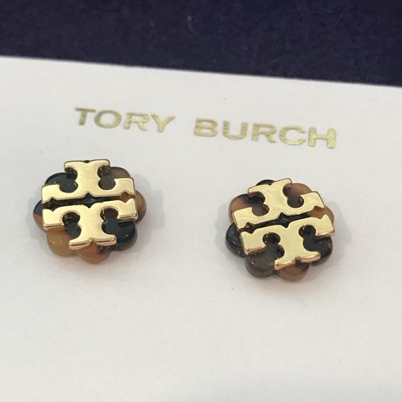 aa3388924 Tory Burch Jewelry | Flower Resin Stud Earrings | Poshmark